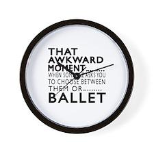 Ballet Dance Awkward Designs Wall Clock