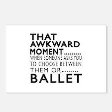 Ballet Dance Awkward Desi Postcards (Package of 8)
