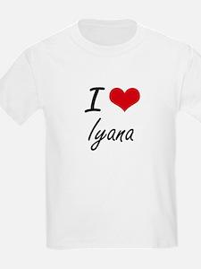 I Love Iyana artistic design T-Shirt