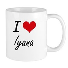 I Love Iyana artistic design Mugs