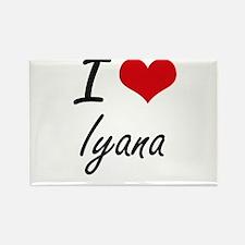 I Love Iyana artistic design Magnets