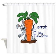 Carrot is my favorite Shower Curtain