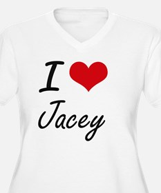 I Love Jacey artistic design Plus Size T-Shirt
