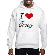 I Love Jacey artistic design Hoodie Sweatshirt