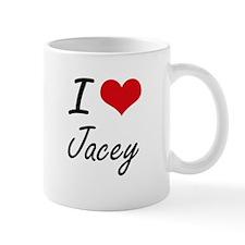 I Love Jacey artistic design Mugs