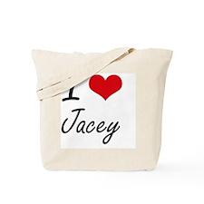 I Love Jacey artistic design Tote Bag
