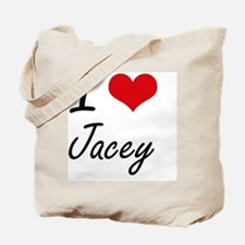 I Love Jacey artistic design Tote Bag