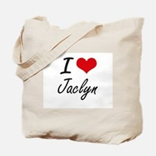 I Love Jaclyn artistic design Tote Bag