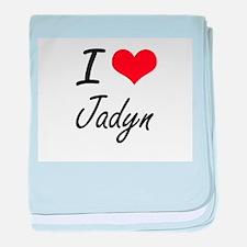 I Love Jadyn artistic design baby blanket
