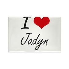 I Love Jadyn artistic design Magnets