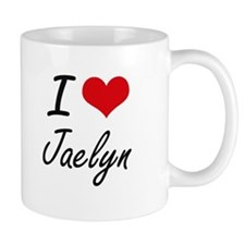I Love Jaelyn artistic design Mugs