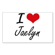 I Love Jaelyn artistic design Decal