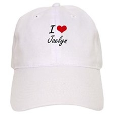 I Love Jaelyn artistic design Baseball Cap