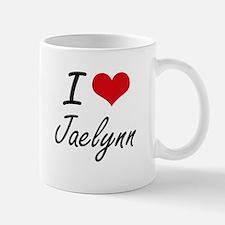 I Love Jaelynn artistic design Mugs