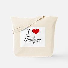 I Love Jaelynn artistic design Tote Bag