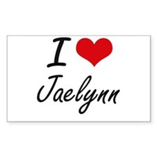 I Love Jaelynn artistic design Decal
