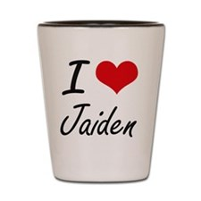 I Love Jaiden artistic design Shot Glass