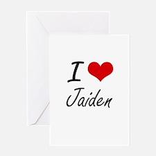 I Love Jaiden artistic design Greeting Cards