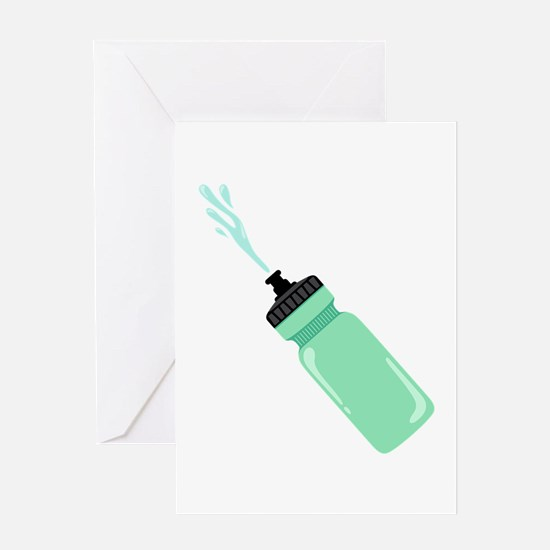 Water Bottle Greeting Cards