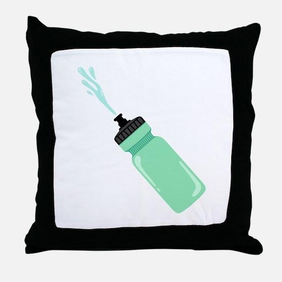 Water Bottle Throw Pillow