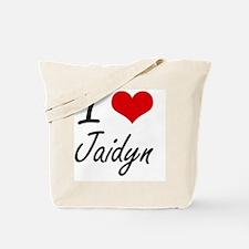 I Love Jaidyn artistic design Tote Bag