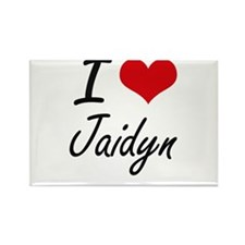 I Love Jaidyn artistic design Magnets