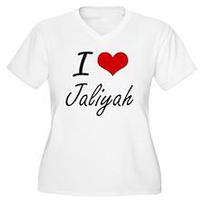 I Love Jaliyah artistic design Plus Size T-Shirt