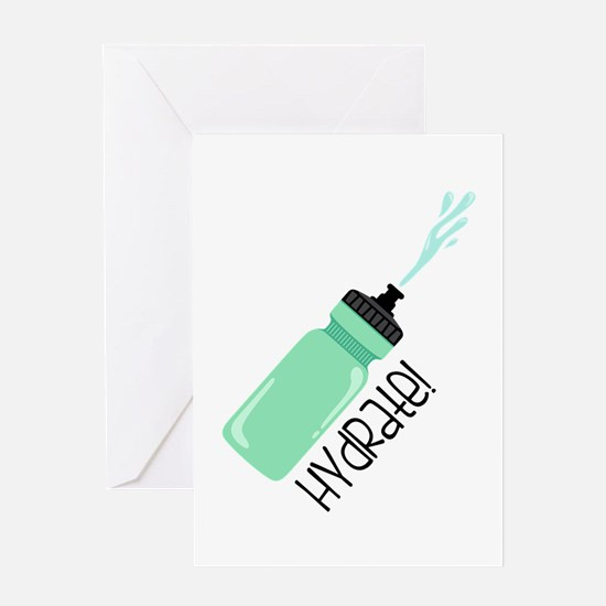 Hydrate Bottle Greeting Cards