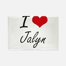 I Love Jalyn artistic design Magnets