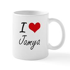 I Love Jamya artistic design Mugs