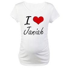 I Love Janiah artistic design Shirt