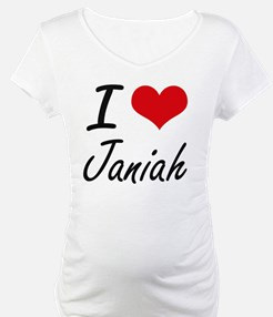 I Love Janiah artistic design Shirt