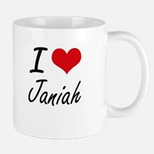 I Love Janiah artistic design Mugs