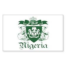 I rep Nigeria Rectangle Decal
