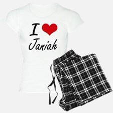 I Love Janiah artistic desi Pajamas