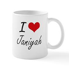 I Love Janiyah artistic design Mugs