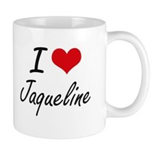 I Love Jaqueline artistic design Mugs
