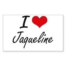 I Love Jaqueline artistic design Decal
