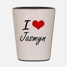 I Love Jasmyn artistic design Shot Glass