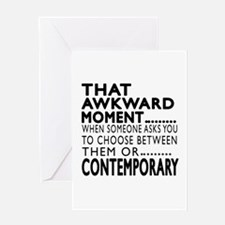 Contemporary Dance Awkward Designs Greeting Card
