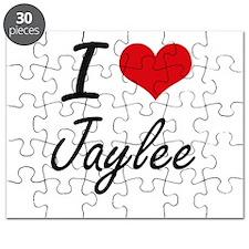I Love Jaylee artistic design Puzzle