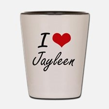 I Love Jayleen artistic design Shot Glass
