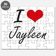 I Love Jayleen artistic design Puzzle