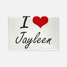 I Love Jayleen artistic design Magnets