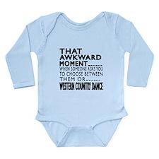 Western Country Dance Long Sleeve Infant Bodysuit