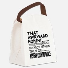 Western Country Dance Awkward Des Canvas Lunch Bag