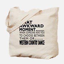 Western Country Dance Awkward Designs Tote Bag