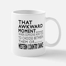 Western Country Dance Awkward Designs Small Mugs