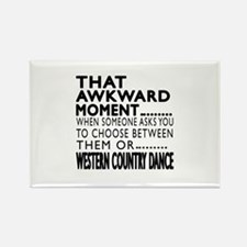Western Country Dance Awkward Des Rectangle Magnet
