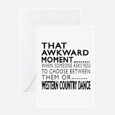 Western Country Dance Awkward Design Greeting Card